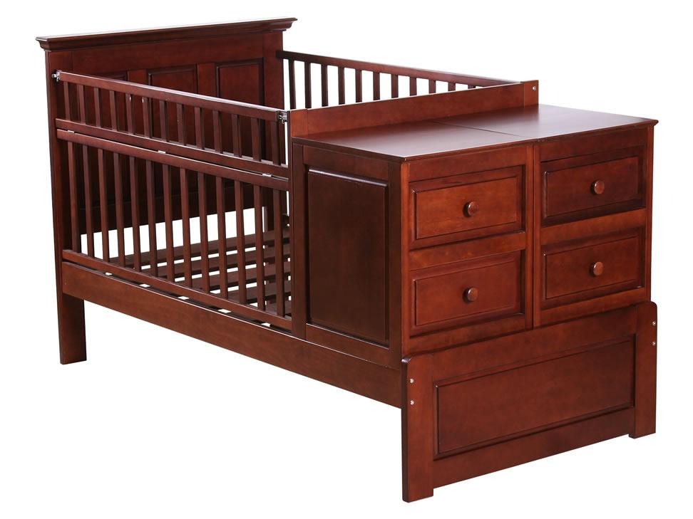 Muebles de bebe cuna para bebe funcional de madera for Fotos de cunas